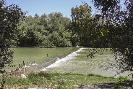 Demolición del azud de la Corta en el Rio Guadalete