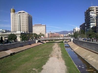 Tramo urbano del Guadalmedina en Málaga